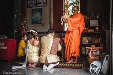 Традиционная буддийская свадебная церемония в храме на Пхукете - 0